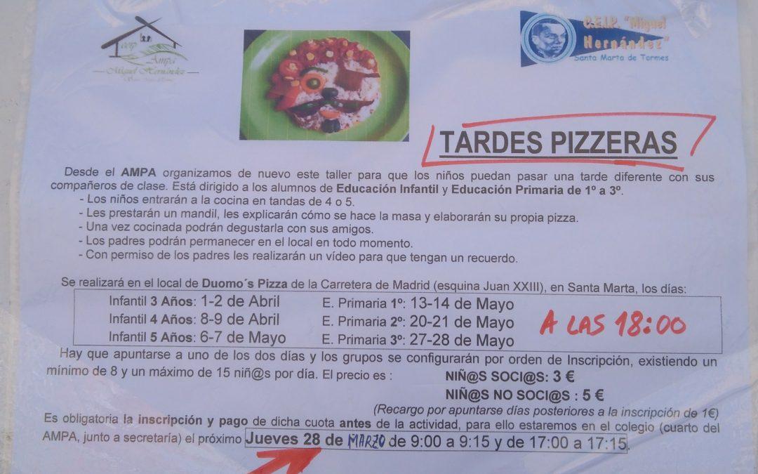 Taller de pizzas 2019