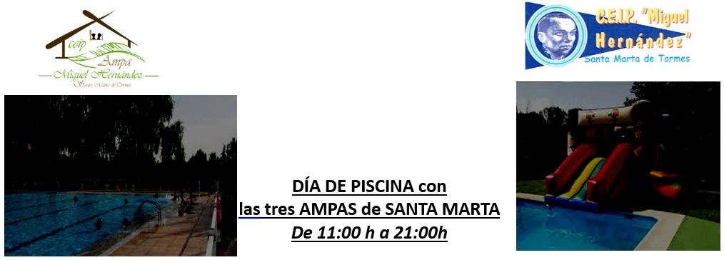 Dia de piscina con las AMPAS de Santa Marta