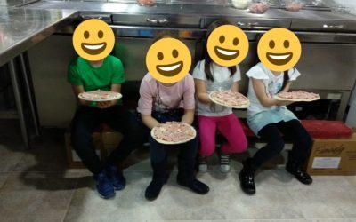 Más fotos de los talleres de pizzas